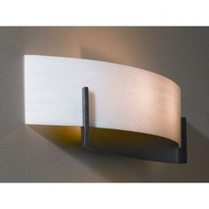 Hubbardton Forge Axis 2 Light Wall Sconce Finish: Black, Shade Color: White Art