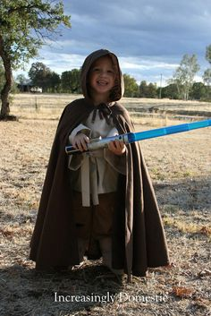 Increasingly Domestic: {Handmade} Luke Skywalker Costume - with links to patterns