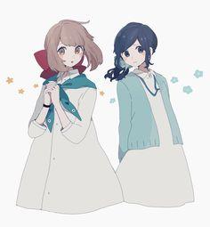 details on hair skin and and eyes Manga Anime, Anime Chibi, Character Art, Character Design, Anime Friendship, Simple Anime, Poses References, Anime Art Girl, Anime Girls
