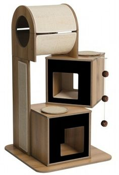 1 Count Vesper Cat Condo V-Tower, Black