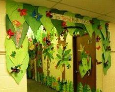 weird animals vbs trees   jungle tree decorations   Rainforest Classroom -- Trees/Decoration ...