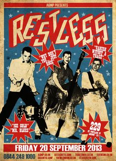 Rockabilly Legends RESTLESS return to London for a rare show. Tickets on sale now from www.agmp.co.uk