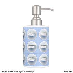 Shop Cruise Ship Cameo Bathroom Set created by CruiseReady. Nautical Bath, Bath Decor, Bathroom Sets, Soap Dispenser, Cruise, Ship, Design, Soap Dispenser Pump, Cruises