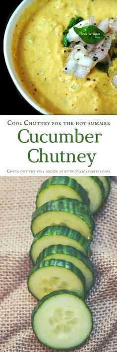 Cool Cucumber Chutney recipe for the hot summer. Amazing chutney recipe that is made from cucumber, coconut, chana dal, etc. Indian Chutney Recipes, Indian Food Recipes, Vegetarian Recipes, Healthy Recipes, Indian Desserts, Curry Recipes, Cucumber Chutney, Chutney Varieties, Easy Cooking