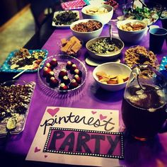 Pinterest Party!   All recipes from Pinterest, all DIY crafts!