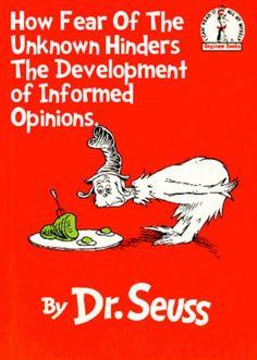 Real Dr. Seuss titles.