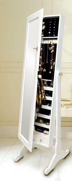 Jewelry cabinet with mirror #organization #furniture_design