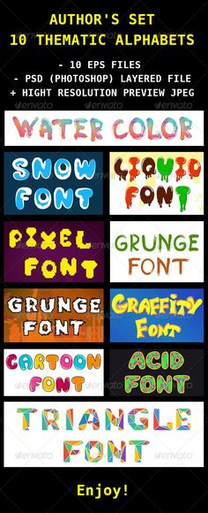 English Thematic Fonts for Design