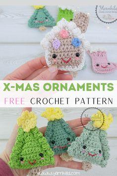 Crochet Tree, Crochet Christmas Ornaments, Christmas Knitting Patterns, Holiday Crochet, Crochet Snowflakes, Crochet Gifts, Crochet Angels, Christmas Bells, Crochet Bags