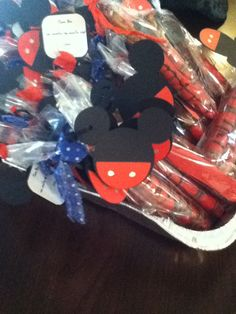 Mickey mouse cupcake toppers   by katieskreativekrafts on Etsy, $6.00