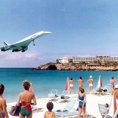 The Concorde landing at Saint Marteen British Airways vs AirFrance? This photo was taken during 1989 Photo: (unknown) by alphaviation May 24 2016 at 06:26PM