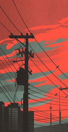 Cityscapes 2 Joanna Grodecka Costas K Aesthetic Backgrounds, Aesthetic Iphone Wallpaper, Aesthetic Wallpapers, Pastel Wallpaper, Cool Wallpaper, Wallpaper Backgrounds, Phone Backgrounds, Hippie Wallpaper, Skull Wallpaper