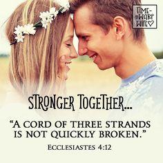 Ecclesiastes 4:12 - #christianity #christian #bible #faith #jesuschrist #God #love #christianencouragement #truth #biblestudy