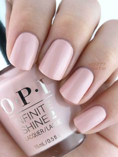 Blush pink nails for the win