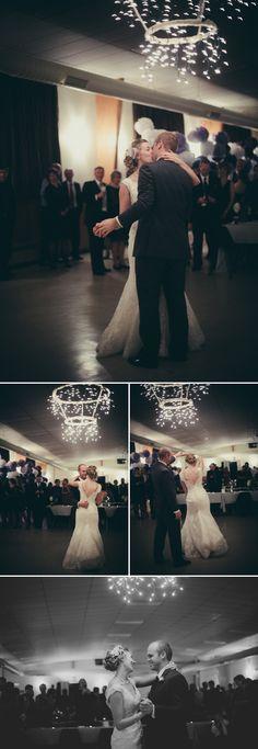 Winter country wedding dance