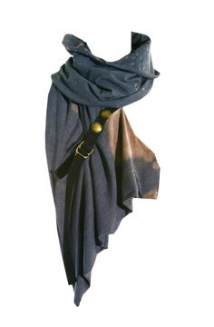 wasteland cowl / scarf / buckle detail / women's fashion