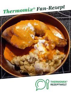 """ungarisches Paprikahuhn (""""Paprikás csirke"""") von Nikkifisch. Ein Thermomix ® Rezept aus der Kategorie Hauptgerichte mit Fleisch auf www.rezeptwelt.de, der Thermomix ® Community."""