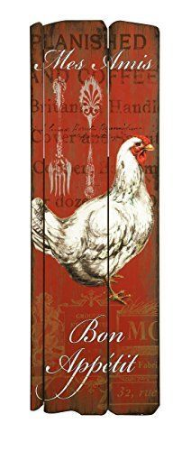 Imax 27682 Garcelle Rooster Wall Decor Nursery New