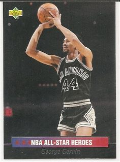 George Gervin 1992-93 Upper Deck All-Star Weekend All-Star Heroes San Antonio Spurs Card 6 *** Want additional info? Click on the image.