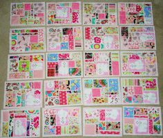 Oxford Impressions: Pink On Pink Mosaic Tile Toddler Quilt