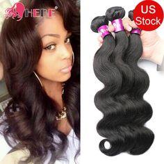 """7A Cheap Brazilian Body Wave Hair 3 Bundles 300g 12""""14""""16"""" Remy Human Hair Weave #HEBE #WaveBundle"""