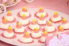 Star topped treats at a fairy girl birthday party!  See more party ideas at CatchMyParty.com!