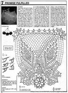 """Mantel Redondo """"Estrella"""" a Crochet Filet Crochet, Beau Crochet, Crochet Doily Diagram, Crochet Doily Patterns, Crochet Chart, Crochet Home, Thread Crochet, Crochet Motif, Crochet Stitches"""