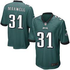 Byron Maxwell Philadelphia Eagles Nike Youth Game Jersey - Midnight Green  Camisetas De Fútbol 915f308d802