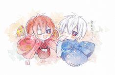 まふまふ×あほの坂田。 Chibi Boy, Cute Anime Chibi, Cute Anime Boy, Anime Guys, Manga Anime, Anime Art, Chibi Couple, Reborn Katekyo Hitman, Fandom