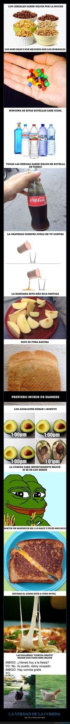 Doce verdades de la comida que nadie puede negar