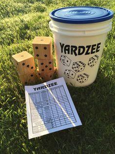 A personal favorite from my Etsy shop https://www.etsy.com/listing/277680692/yardzee-lifesize-yardzee-outdoor-game