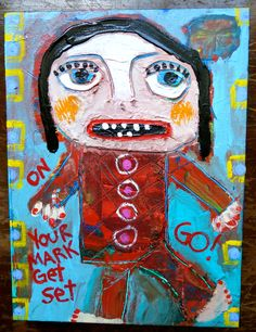 """""""On Your Mark"""" part of a series of new works by me. #traceyannfinley"""