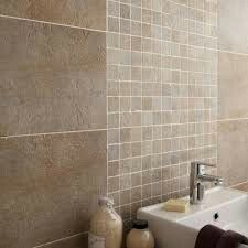 20 Leroy Merlin 2018 Cheap Bathroom Mosaic Check more at www. Tuscan Bathroom, Stone Bathroom, Mosaic Bathroom, Modern Bathroom, Small Bathroom, Beige Tile Bathroom, Master Bathrooms, Small Bathtub, Bathtub Shower