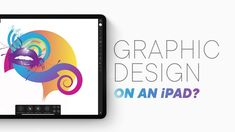 In this second part we explore how possible it is to use an iPad for graphic design work. How good are the vector apps? Can we process a photo just on the iP. Ipad, Tech, Make It Yourself, Graphic Design, Technology, Visual Communication