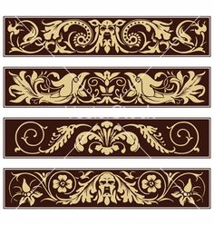 Victorian ornamental vintage decoration border vector art ...