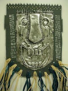 ABC School Art: African Metal Masks - (6th)