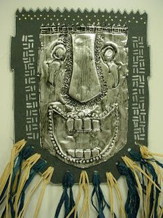ABC School Art: African Metal Masks - (6th)