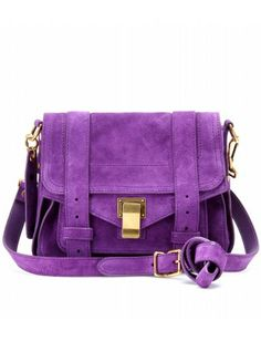 Proenza Schouler Ps1 Pouch Suede Shoulder Bag