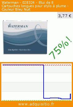 Waterman - 028324 - Etui de 8 Cartouches longues pour stylo à plume - Couleur Bleu Nuit (Fournitures de bureau). Réduction de 75%! Prix actuel 3,77 €, l'ancien prix était de 14,95 €. http://www.adquisitio.fr/waterman/028324-etui-8-cartouches