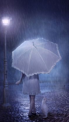* Out in the rain