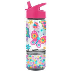 Stephen Joseph Butterfly 8 Oz. Sip And Snack Bottle Multi - Your child can bring a snack and drink with them with this Stephen Joseph Sip and Snack Bottle. The lid stays connected to avoid dropping to help it stay clean and a snack cup connects to the bottle so they'll have food when they want it. Snacks Online, Snack Containers, Getting Hungry, Colorful Animals, Hoppy Easter, All Kids, Easy Snacks, Surf Shop, Drink Bottles