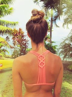 Roxy ombre top knot macrame bikini