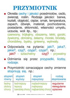 Wersus - pomoce dydaktyczne - Język polski, część 1 - Ortografia i części mowy School Suplies, Polish Language, Eighth Grade, Learning Process, School Notes, English Vocabulary, Learn English, Self Improvement, Kids And Parenting