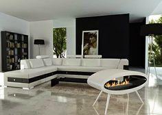 Sala Moderna Con Muebles Blancos