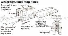 Adjustable Stop Block - Marking and Measuring