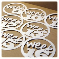 Project Life Circular Numeric Week Tags : All Weeks 1 - 52