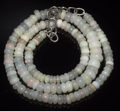 """79 Ct 1 Necklace 4to7 mm 16""""Beads Natural Genuine Ethiopian Welo Fire Opal R7435"""