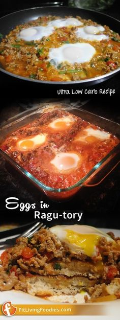 Eggs (and pancakes) for dinner? Check out our meatier recipe version of eggs in purgatory that makes the perfect meal for dinnertime. Ultra Low Carb Recipes, Eggs In Purgatory, Pancakes For Dinner, Low Carb Meats, Healthy Food, Healthy Recipes, Surgery, Main Dishes, Paleo