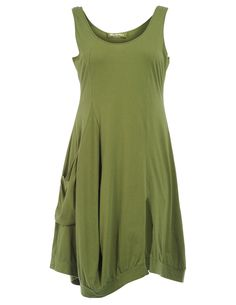 Cotton dress with walking slit in Olive-Green designed by Ultimate Miks to find in Category Dresses at navabi.de