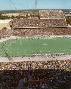 Aggie Band - 1971-1980 - Beginning of the 3rd Deck of Kyle Field...wow, i've never seen half of 3rd deck before.